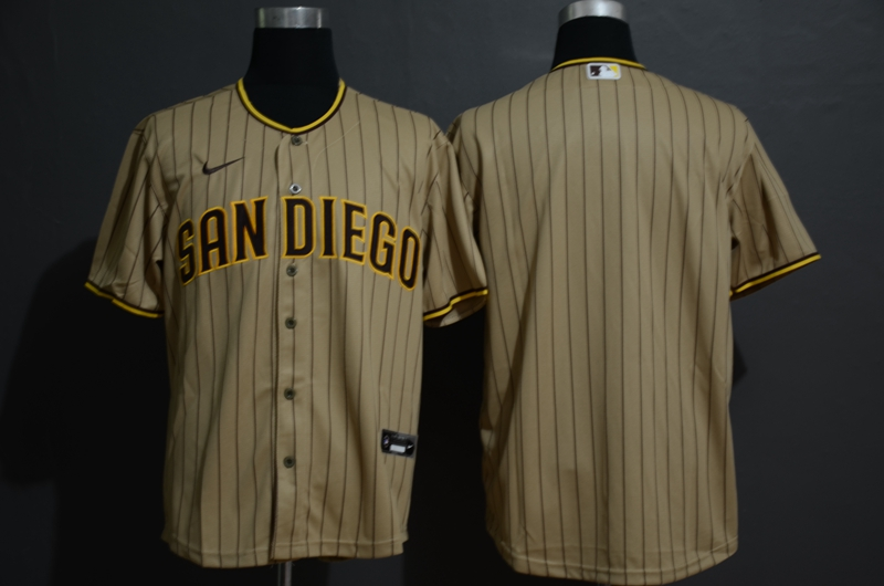 Men's San Diego Padres Blank Gray Stitched MLB Cool Base Nike Jersey