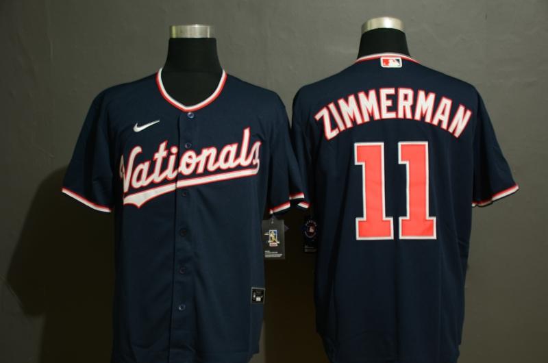 Men's Washington Nationals #11 Ryan Zimmerman Navy Blue Stitched MLB Cool Base Nike Jersey