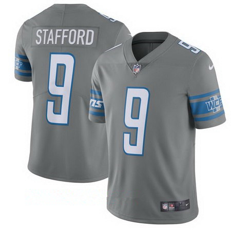 Youth Nike Detroit Lions #9 Matthew Stafford Gray Stitched NFL Vapor Untouchable Limited Jersey