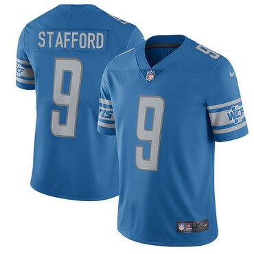 Youth Nike Detroit Lions #9 Matthew Stafford Blue Team Color Stitched NFL Vapor Untouchable Limited Jersey