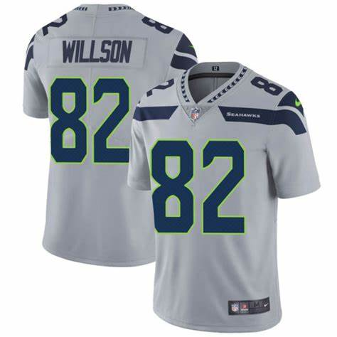 Youth Seattle Seahawks #82 Luke Willson Grey Nike Stitched Limited Jersey