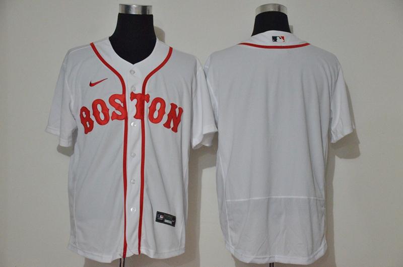 Men's Boston Red Sox Blank White Retro Stitched MLB Flex Base Nike Jersey