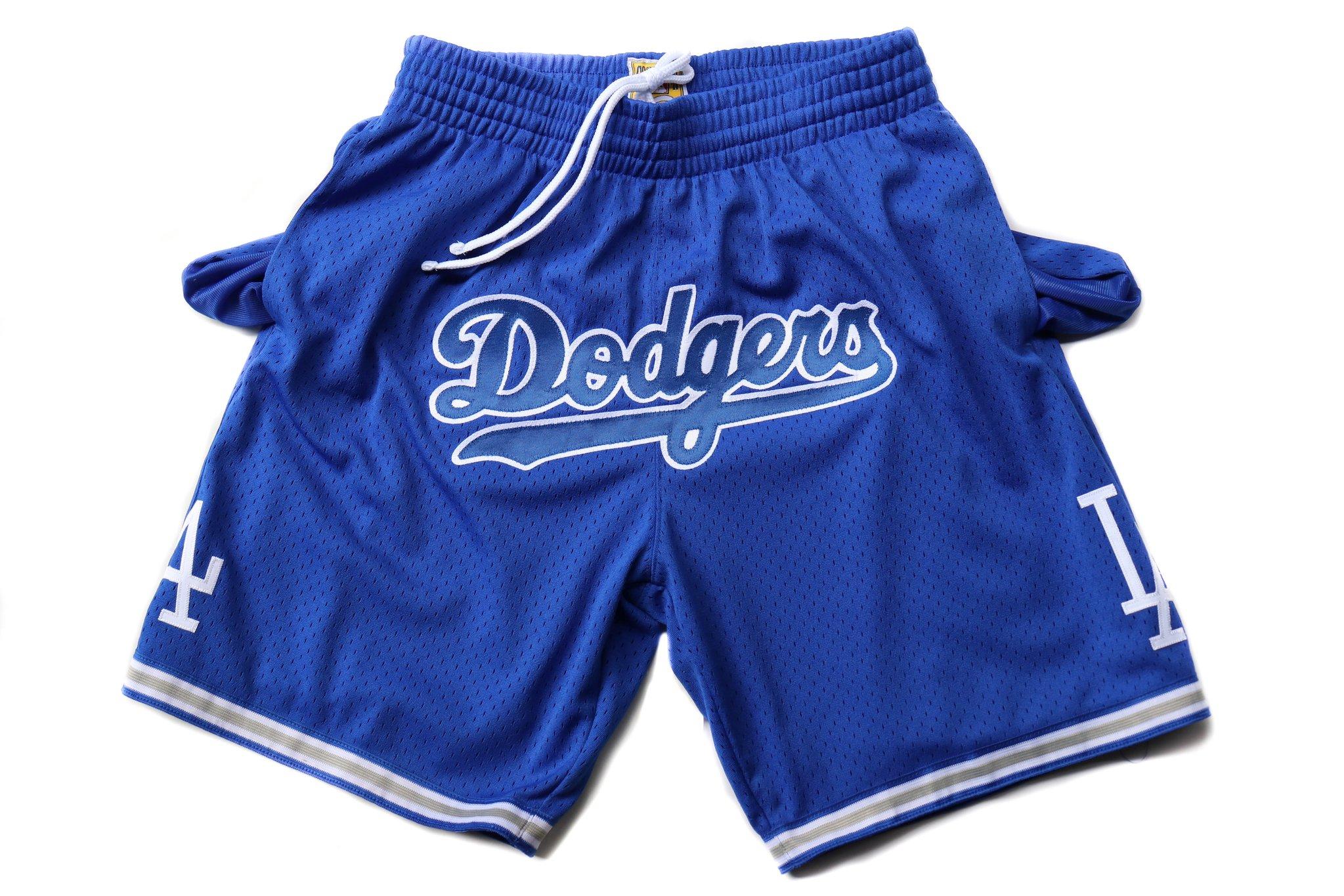 Men's Los Angeles Dodgers Blue Just Don Shorts Swingman Shorts