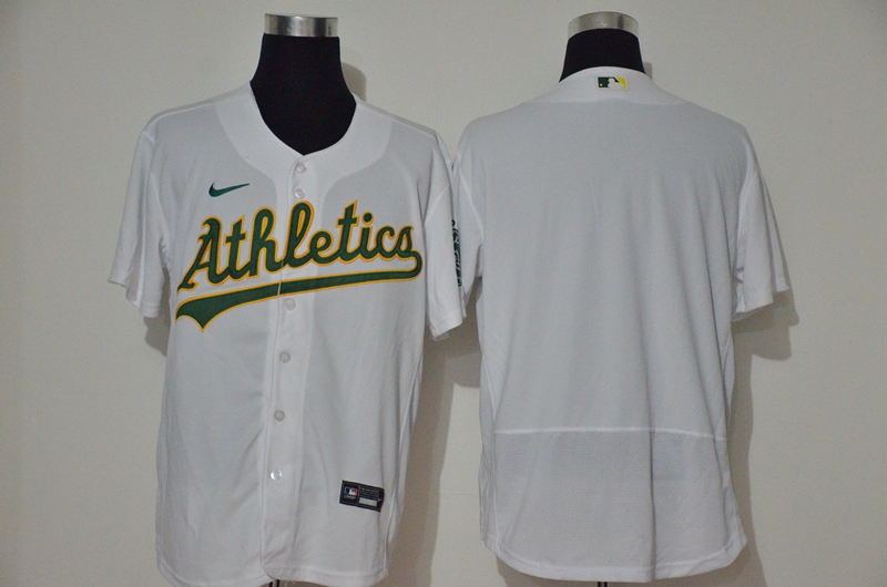 Men's Oakland Athletics Blank White Stitched Stitched MLB Flex Base Nike Jersey