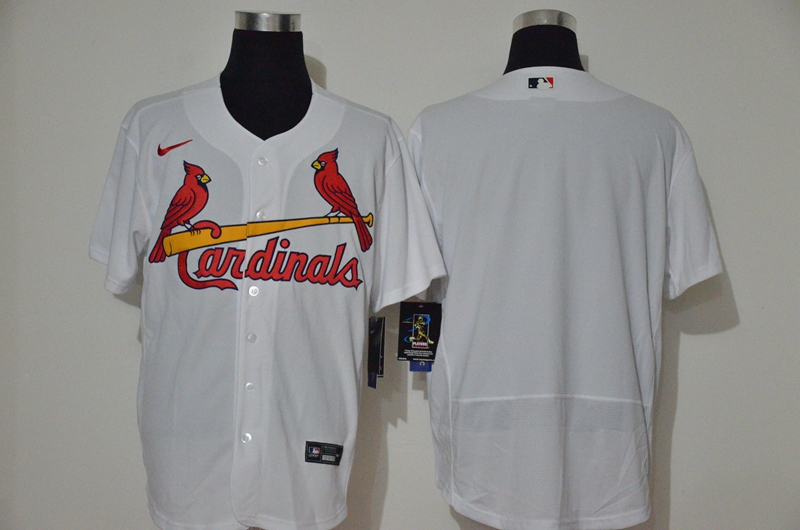 Men's St. Louis Cardinals Blank White Stitched MLB Flex Base Nike Jersey