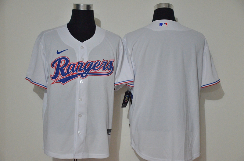 Men's Texas Rangers Blank White Cooperstown Collection Stitched MLB Nike Jersey