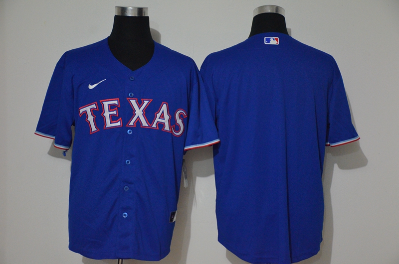 Men's Texas Rangers Blank Blue Stitched MLB Cool Base Nike Jersey