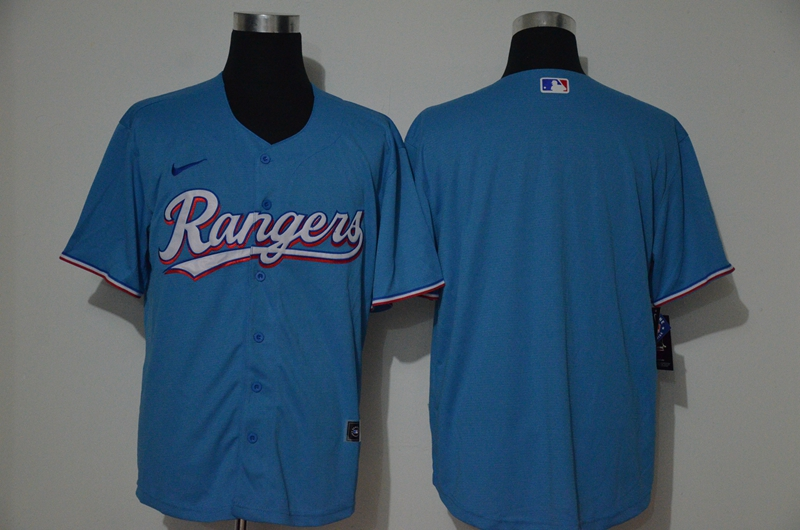 Men's Texas Rangers Blank Blue Cooperstown Collection Stitched MLB Nike Jersey