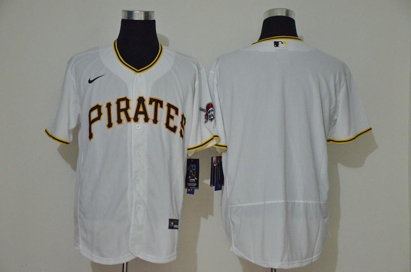Men's Pittsburgh Pirates Blank White Stitched MLB Flex Base Nike Jersey