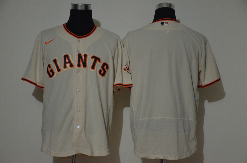 Men's San Francisco Giants Blank Cream Stitched Nike MLB Flex Base Jersey