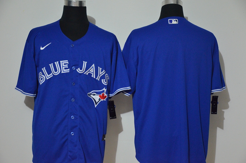 Men's Toronto Blue Jays Blank Blue Stitched MLB Cool Base Nike Jersey