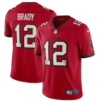 Size XXXXL Men's Tampa Bay Buccaneers #12 Tom Brady Red 2020 NEW Vapor Untouchable Stitched NFL Nike Limited Jersey