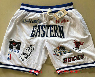 All-Star Eastern White JUST DON By Mitchell & Ness Shorts