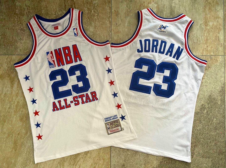 NBA 2003 All-Star #23 Michael Jordan White Swingman Throwback Jersey