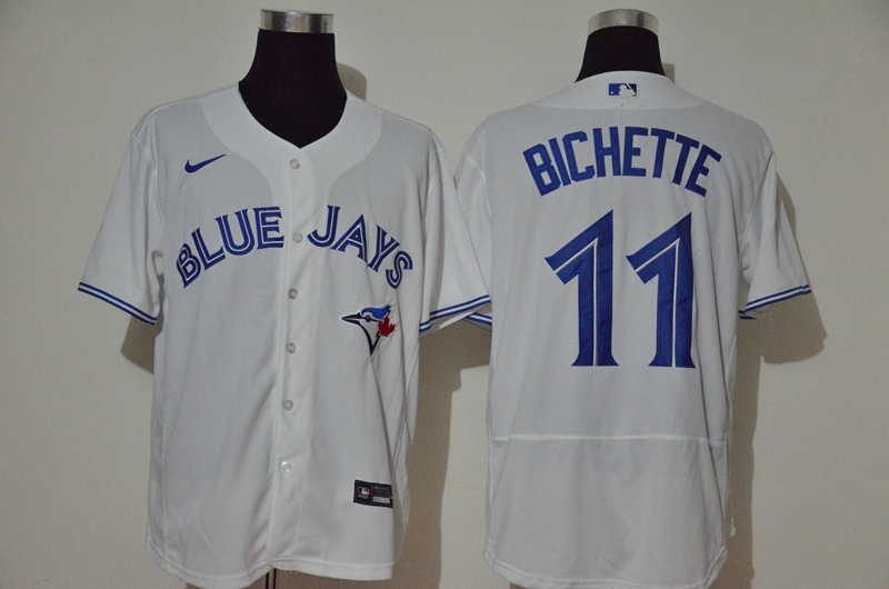 Men's Toronto Blue Jays #11 Bo Bichette White Stitched MLB Flex Base Nike Jersey