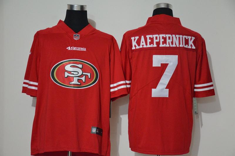 Men's San Francisco 49ers #7 Colin Kaepernick Red 2020 Big Logo Vapor Untouchable Stitched NFL Nike Fashion Limited Jersey