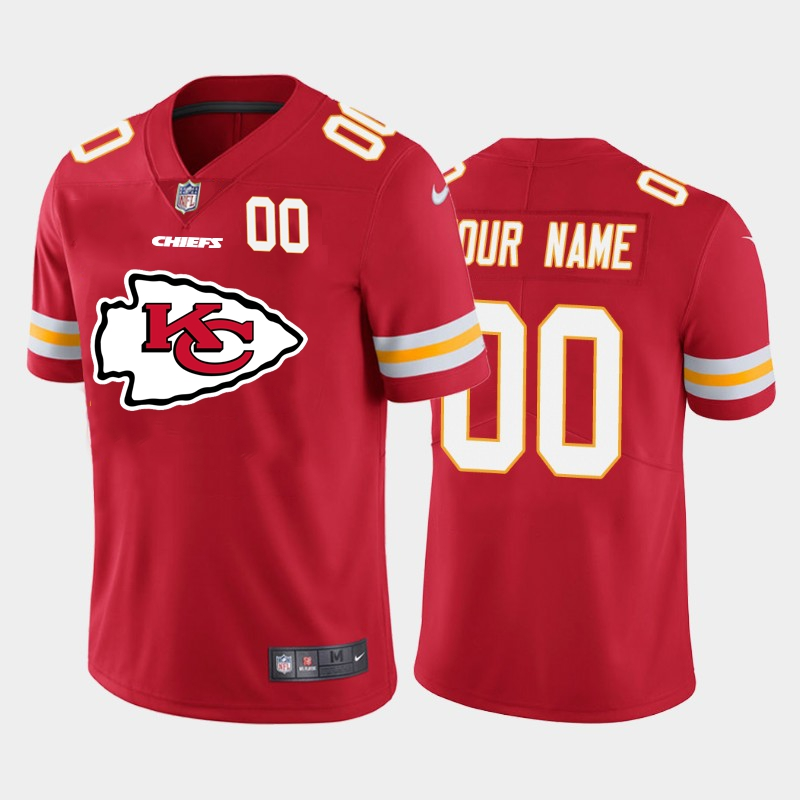 Nike Kansas City Chiefs Customized Red Team Big Logo Number Vapor Untouchable Limited Jersey