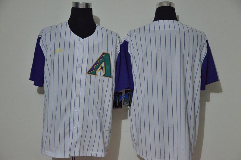 Men's Arizona Diamondbacks Blank White Cooperstown Collection Throwback Stitched Nike MLB Jersey