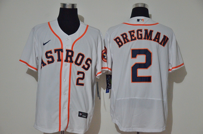Men's Houston Astros #2 Alex Bregman White Stitched MLB Flex Base Nike Jersey