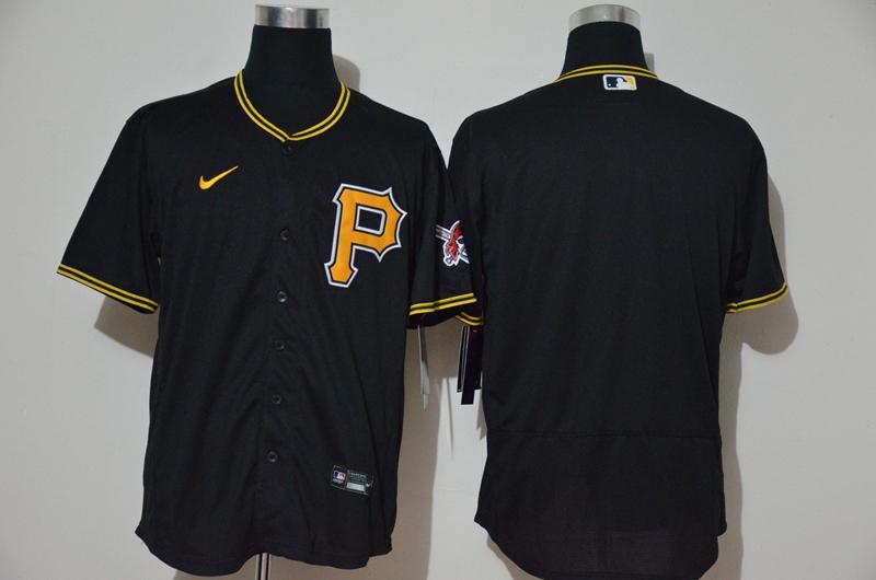 Men's Pittsburgh Pirates Blank Black Stitched MLB Flex Base Nike Jersey