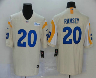 Men's Jacksonville Jaguars #20 Jalen Ramsey Cream 2020 NEW Vapor Untouchable Stitched NFL Nike Limited Jersey