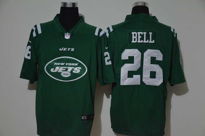 Men's New York Jets #26 Le'Veon Bell Green 2020 Big Logo Vapor Untouchable Stitched NFL Nike Fashion Limited Jersey