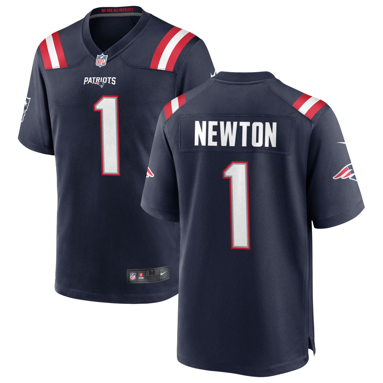 Men's New England Patriots #1 Cam Newton Navy Blue 2020 NEW Vapor Untouchable Stitched NFL Nike Limited Jersey