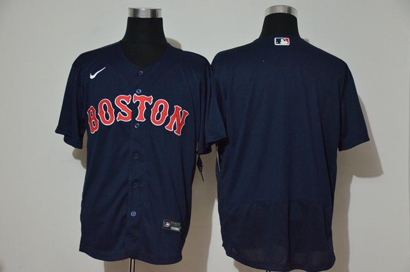 Men's Boston Red Sox Blank Navy Blue Stitched MLB Flex Base Nike Jersey