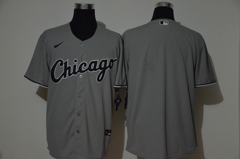 Men's Chicago White Sox Blank Grey Stitched MLB Cool Base Nike Jersey