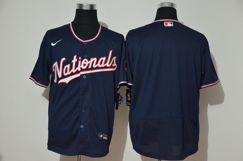 Men's Washington Nationals Blank Navy Blue Stitched MLB Cool Base Nike Jersey