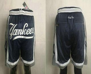 Men's New York Yankees Navy Blue Just Don Shorts Swingman Shorts