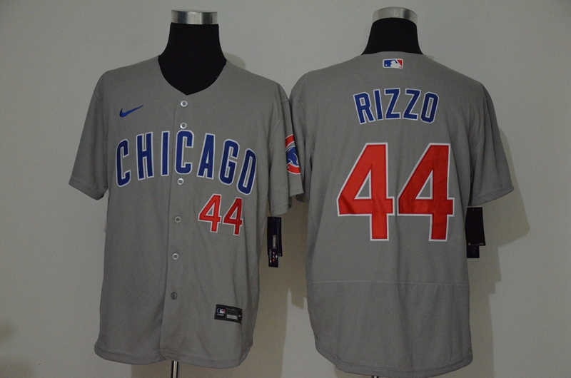 Men's Chicago Cubs #44 Anthony Rizzo Gray Stitched MLB Flex Base Nike Jersey