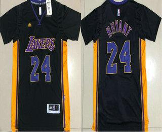 Men's Los Angeles Lakers #24 Kobe Bryant Revolution 30 AU New Black Short-Sleeved Jersey