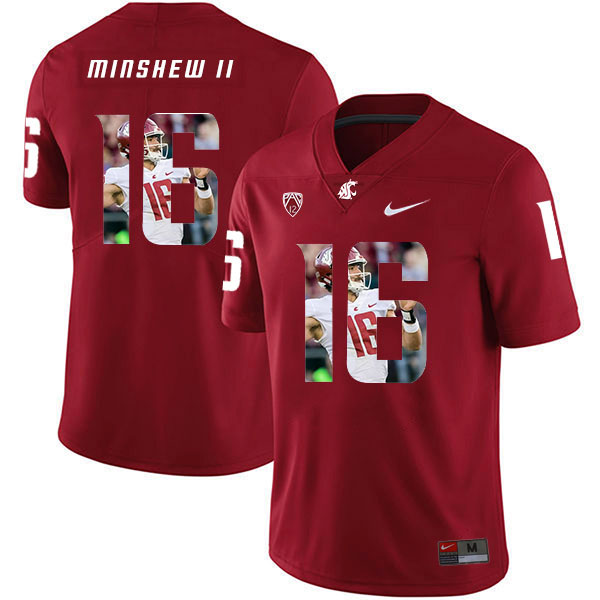 Washington State Cougars 16 Gardner Minshew II Red Fashion College Football Jersey