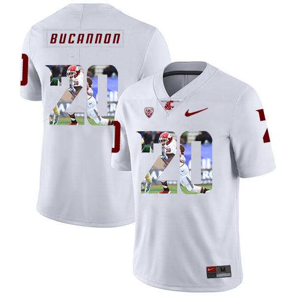 Washington State Cougars 20 Deone Bucannon White Fashion College Football Jersey