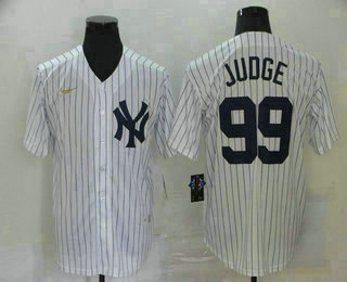 Men's New York Yankees #99 Aaron Judge White Throwback Stitched MLB Cool Base Nike Jersey