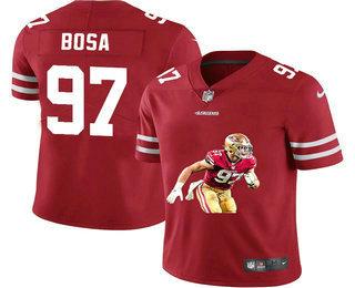 Men's San Francisco 49ers #97 Nick Bosa Red Player Portrait Edition 2020 Vapor Untouchable Stitched NFL Nike Limited Jersey