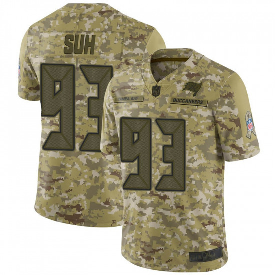 Nike Tampa Bay Buccaneers #93 Ndamukong Suh Men's Limited 2018 Salute to Service Camo Jersey