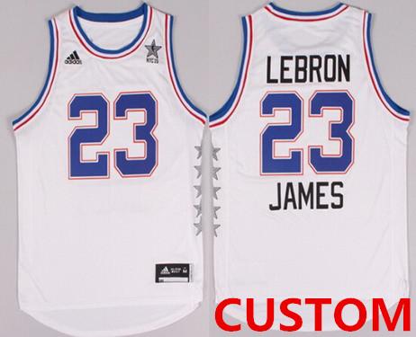 Custom 2015 NBA Eastern All-Stars Revolution 30 Swingman White Jersey