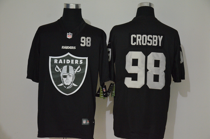 Men's Las Vegas Raiders #98 Maxx Crosby Black 2020 Big Logo Number Vapor Untouchable Stitched NFL Nike Fashion Limited Jersey