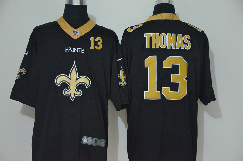 Men's New Orleans Saints #13 Michael Thomas Black 2020 Big Logo Number Vapor Untouchable Stitched NFL Nike Fashion Limited Jersey