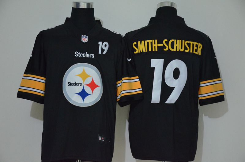 Men's Pittsburgh Steelers #19 JuJu Smith-Schuster Black 2020 Big Logo Number Vapor Untouchable Stitched NFL Nike Fashion Limited Jersey