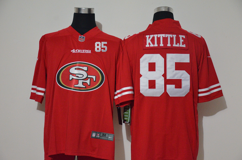 Men's San Francisco 49ers #85 George Kittle Red 2020 Big Logo Number Vapor Untouchable Stitched NFL Nike Fashion Limited Jersey