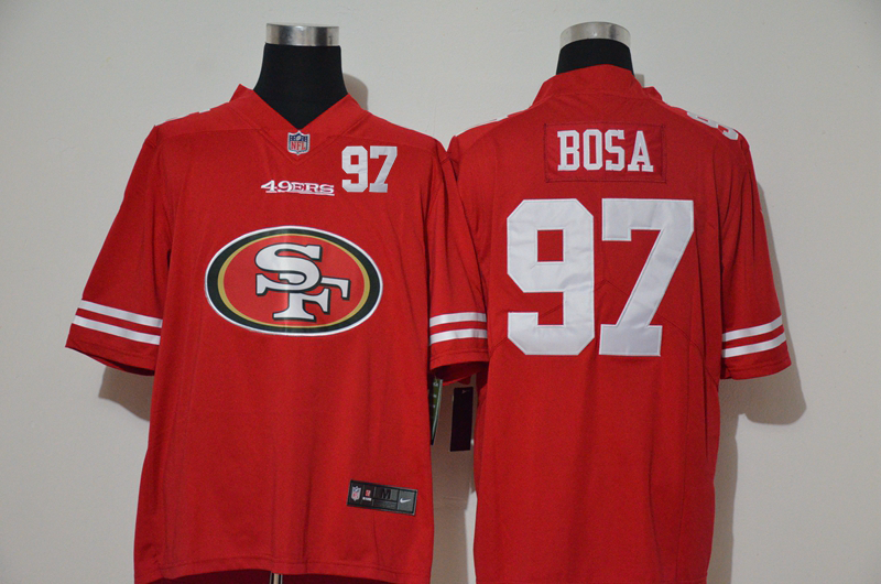 Men's San Francisco 49ers #97 Nick Bosa Red 2020 Big Logo Number Vapor Untouchable Stitched NFL Nike Fashion Limited Jersey