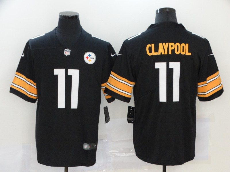 Men's Pittsburgh Steelers #11 Chase Claypool Black 2020 Vapor Untouchable Stitched NFL Nike Limited Jersey