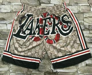 Men's Los Angeles Lakers Black Mamba Commemorative Hardwood Classics Soul Swingman Throwback Shorts