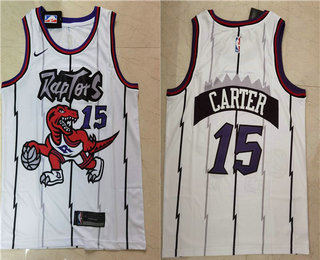 Men's Toronto Raptors #15 Vince Carter White 2018 Nike Swingman Stitched NBA Jersey