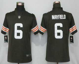 Women's Cleveland Browns #6 Baker Mayfield Brown 2020 NEW Vapor Untouchable Stitched NFL Nike Limited Jersey
