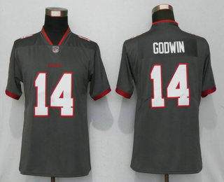Women's Tampa Bay Buccaneers #14 Chris Godwin Grey 2020 NEW Vapor Untouchable Stitched NFL Nike Limited Jersey