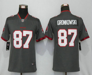 Women's Tampa Bay Buccaneers #87 Rob Gronkowski Grey 2020 NEW Vapor Untouchable Stitched NFL Nike Limited Jersey